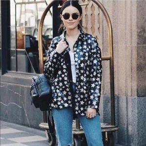 NWOT Zara sequined star jacket